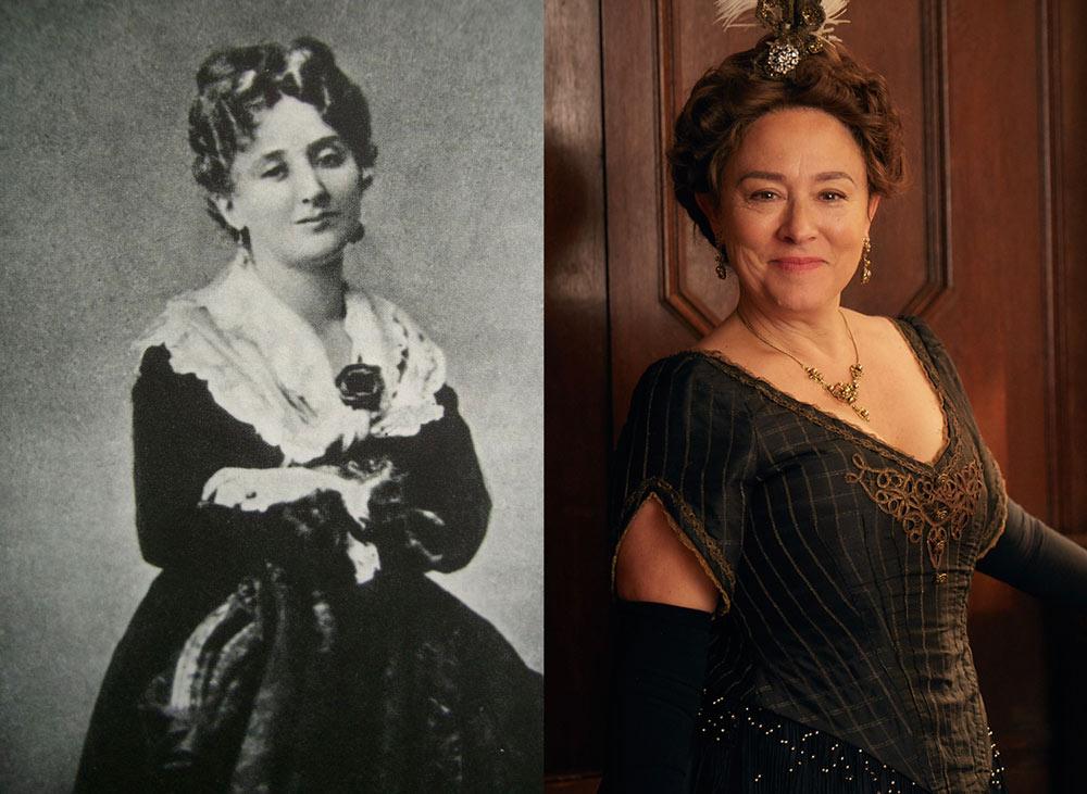 Arabella Weir (r) portrays Madame De Caillavet