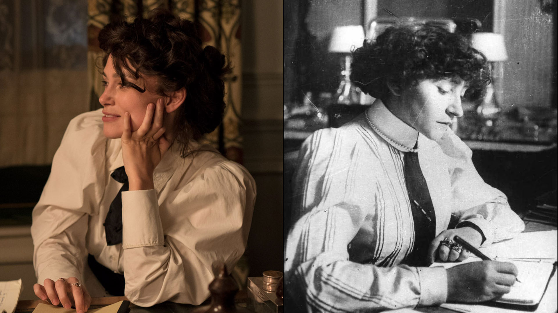 Keira Knightley (left) portrays the real Colette