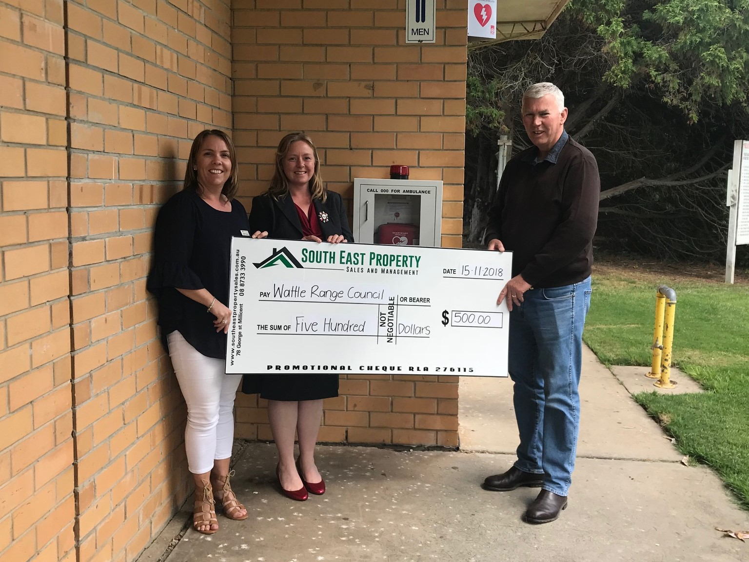 Swimming Lake Defibrillator Donation