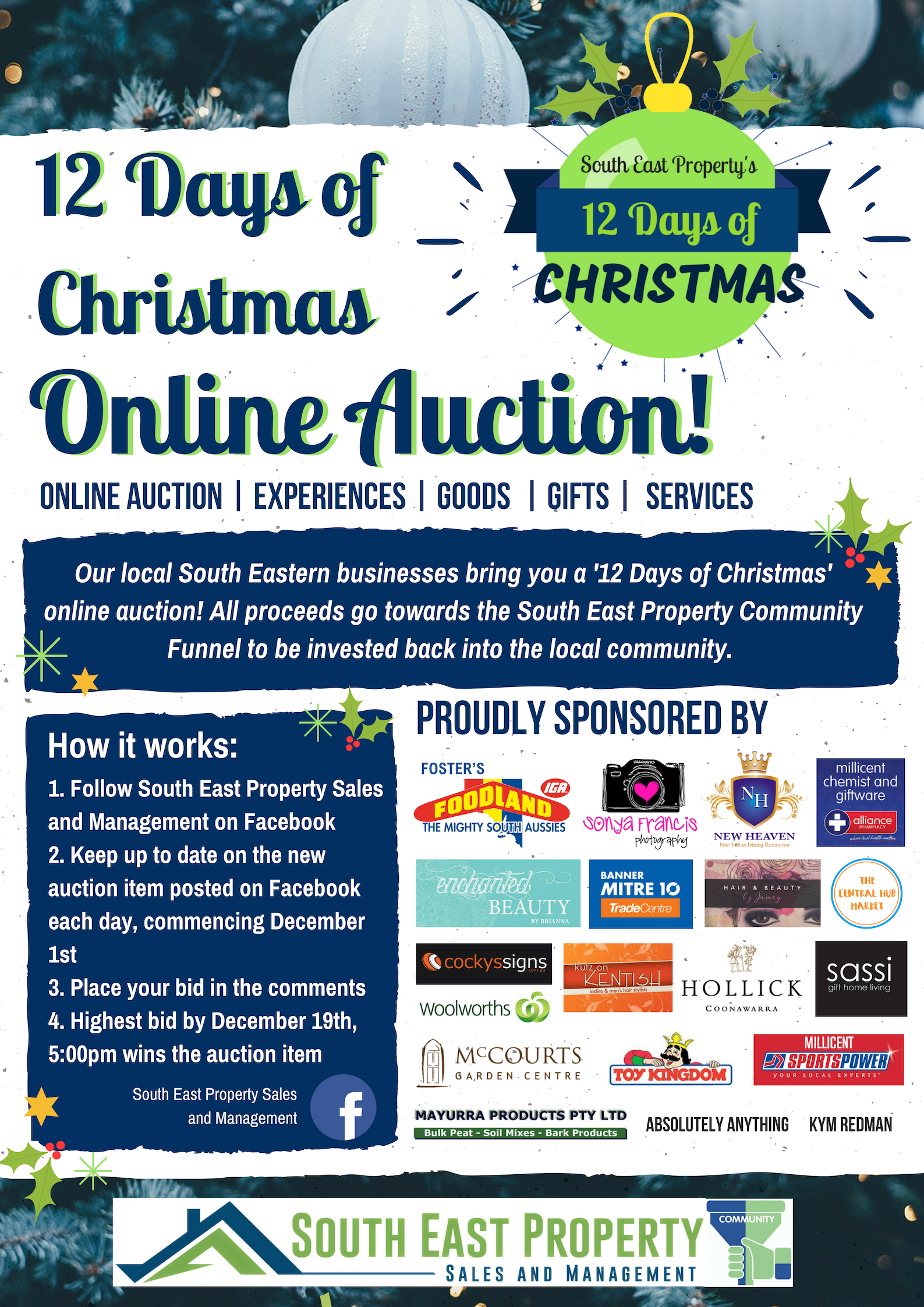 12 Days of Christmas Online Auction