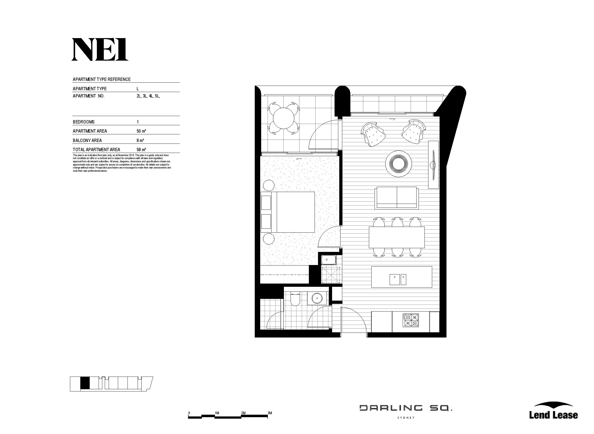 Level 11 One Bed / 83 Harbour Street, Haymarket