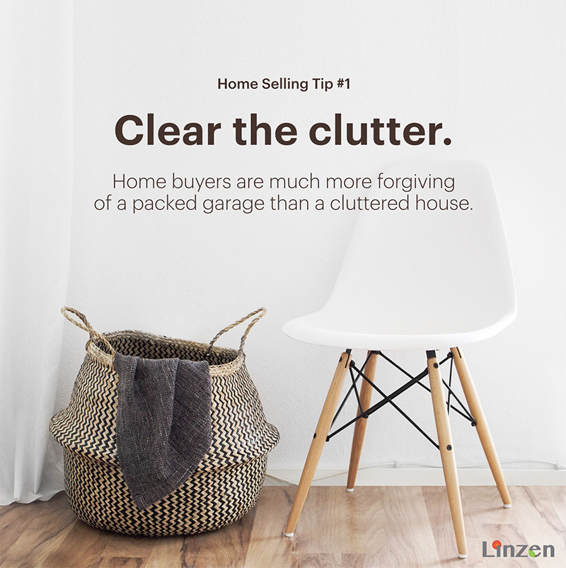 Home Selling Tip #1: Clear the Clutter