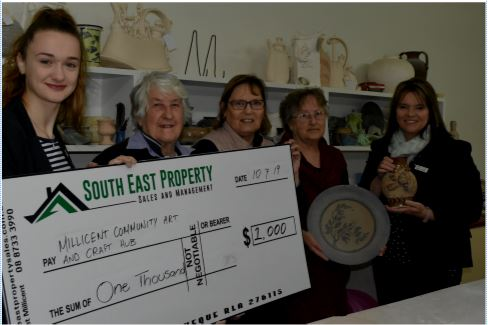 Community Funnel Donation to Arts and Crafts Group