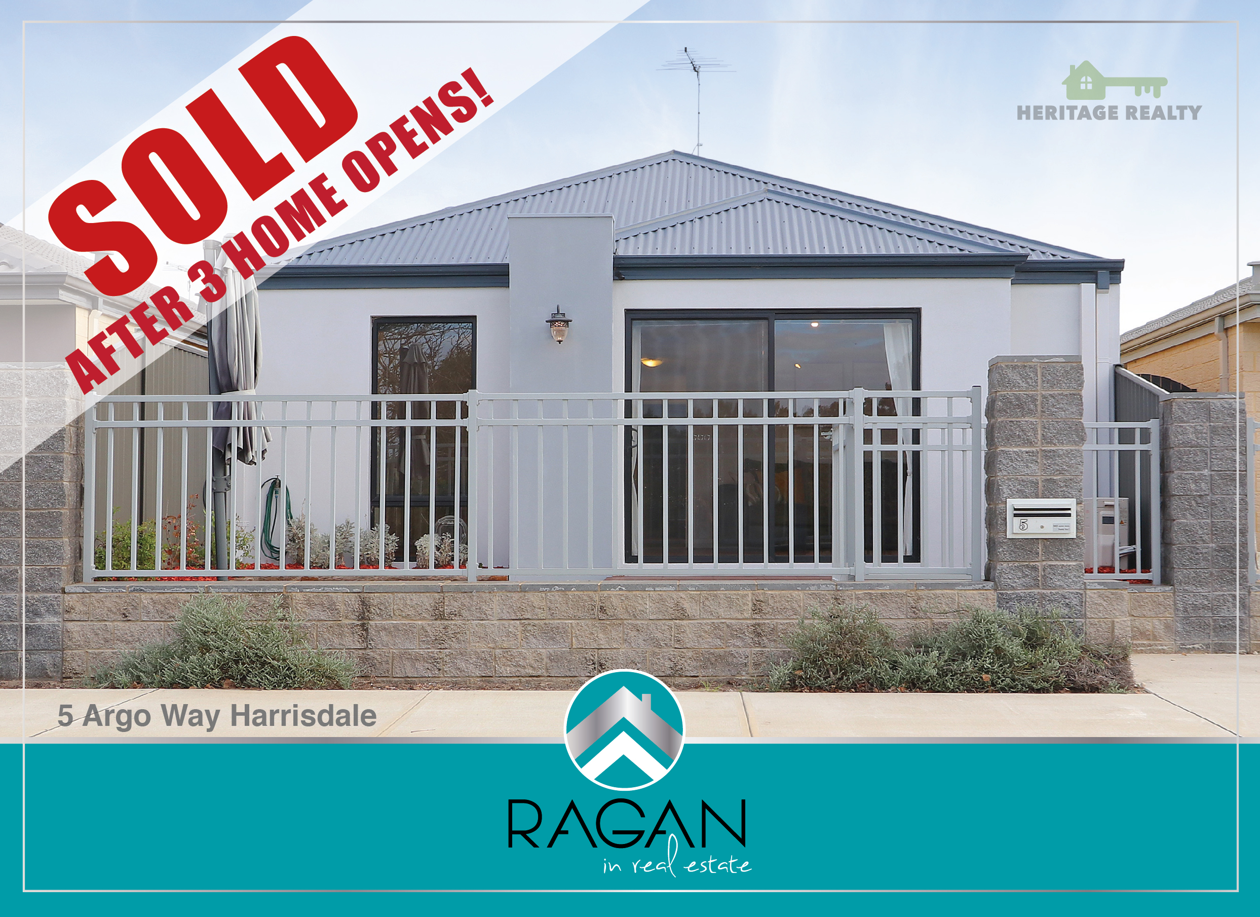 SOLD AFTER THREE HOME OPENS  ....