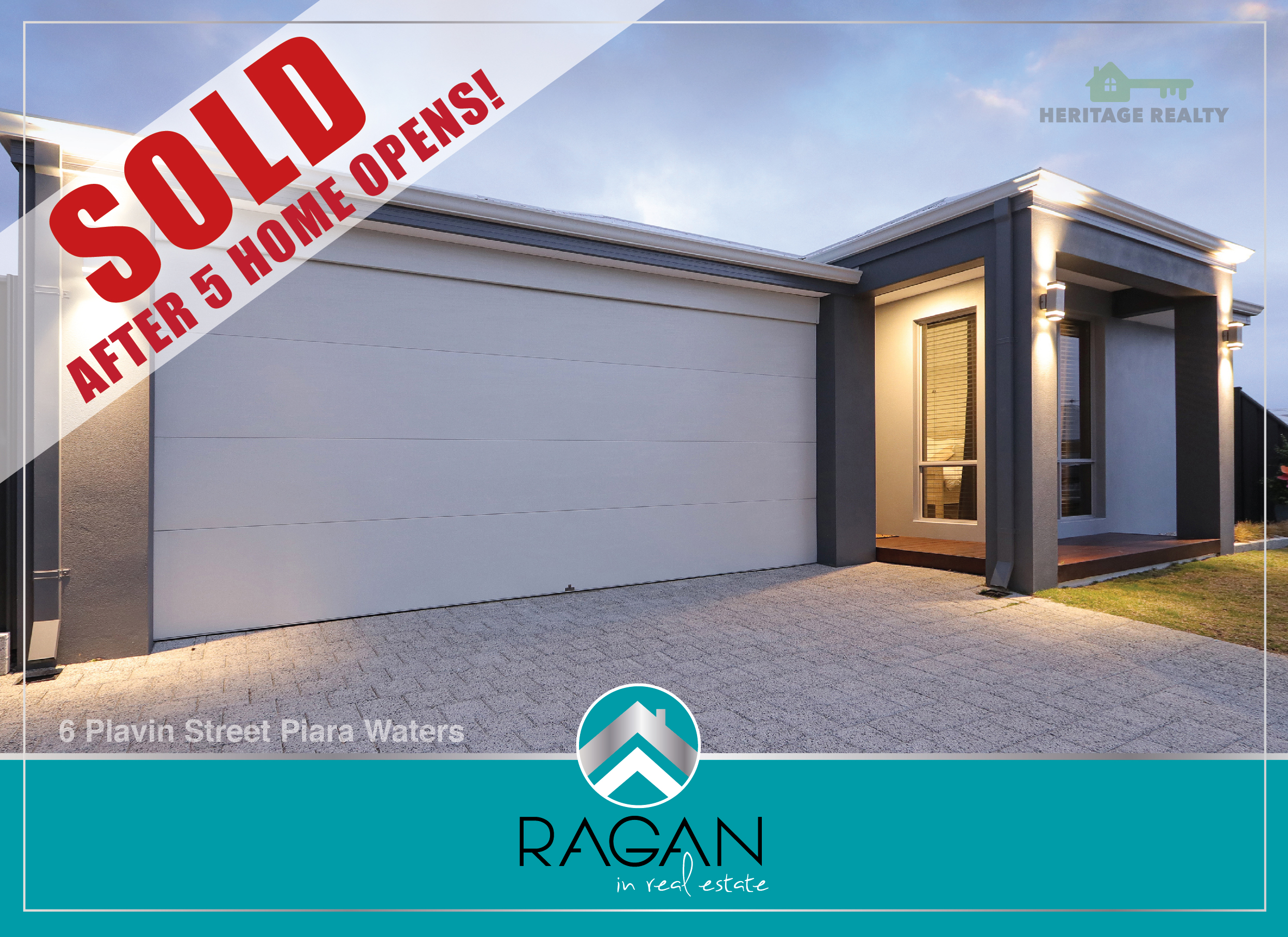SOLD AFTER FIVE HOME OPENS  ....