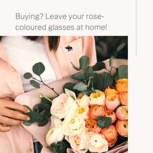 Buying? Leave your rose-coloured glasses at home!