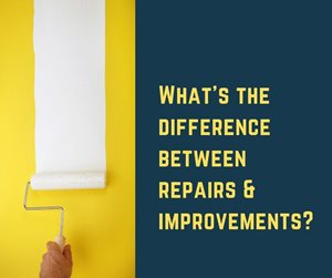 What's the difference between a repair and an improvement?