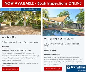 Book inspections online for Sales & Rentals