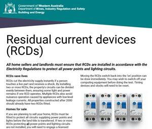 RCD Reminder