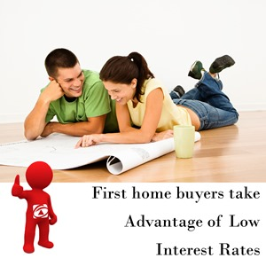 First home buyers take advantage of low interest rates