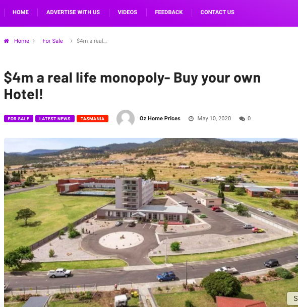 $4m a real life monopoly- Buy your own Hotel!
