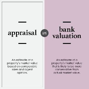 What's the difference between a bank valuation and an appraisal?