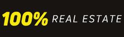 100% REAL ESTATE logo