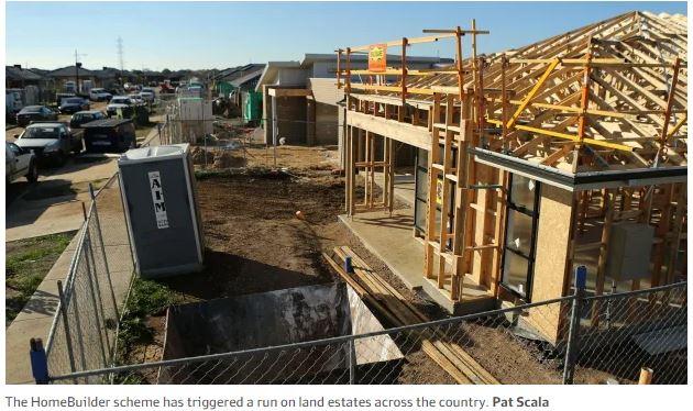 Land sales soar as buyers rush to get HomeBuilder grant