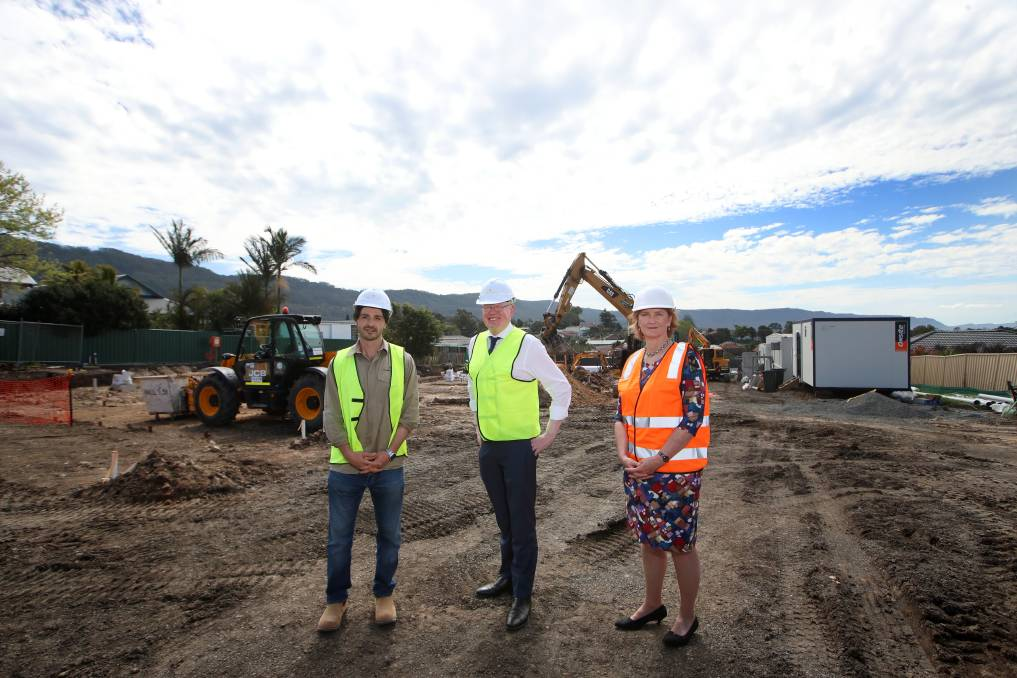 Construction begins on $22m Corrimal housing project, a collaboration between Housing Trust and Traders in Purple