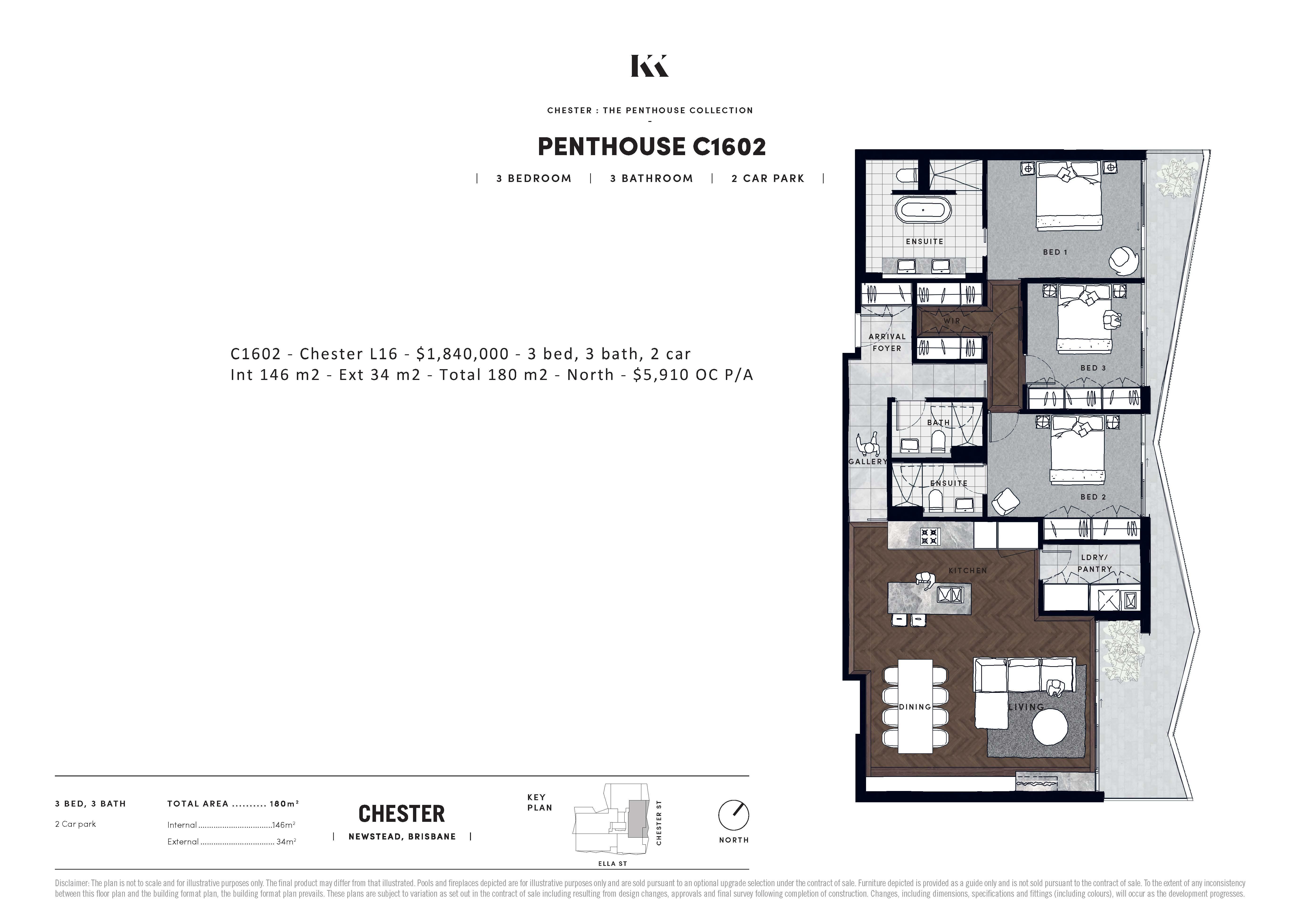 C Penthouse / 7 Chester Street, Newstead