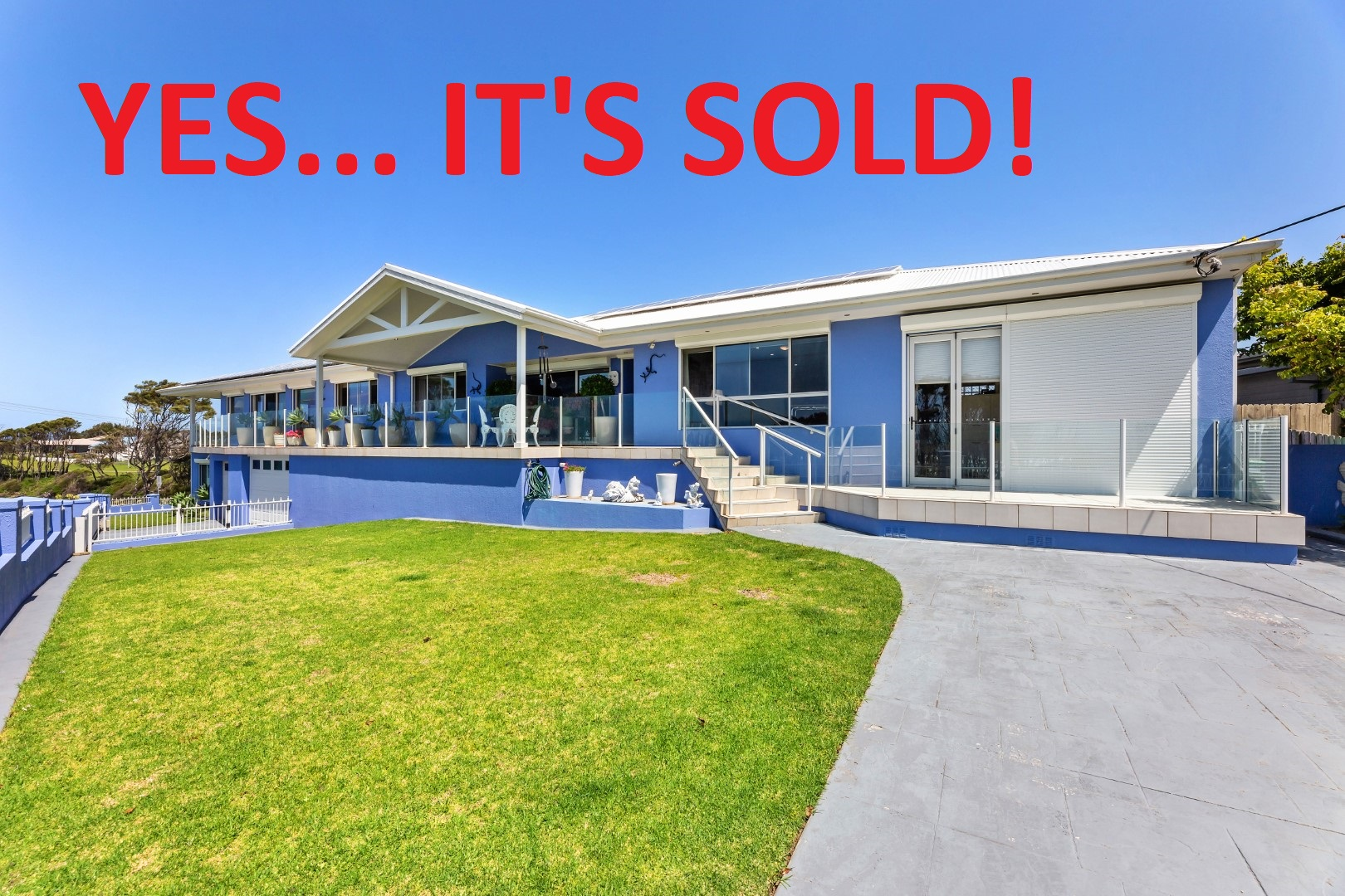 The house and location sold itself!