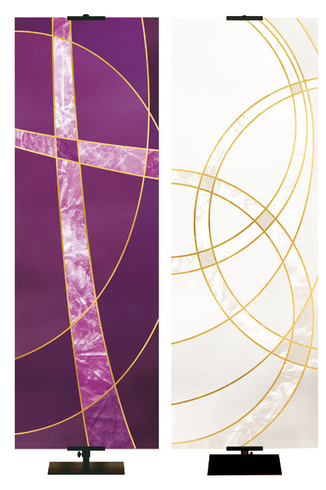 NEW! Colors of Liturgy Banners- Easter Season