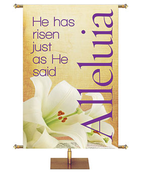 Rustic Easter Church Banners from PraiseBanners