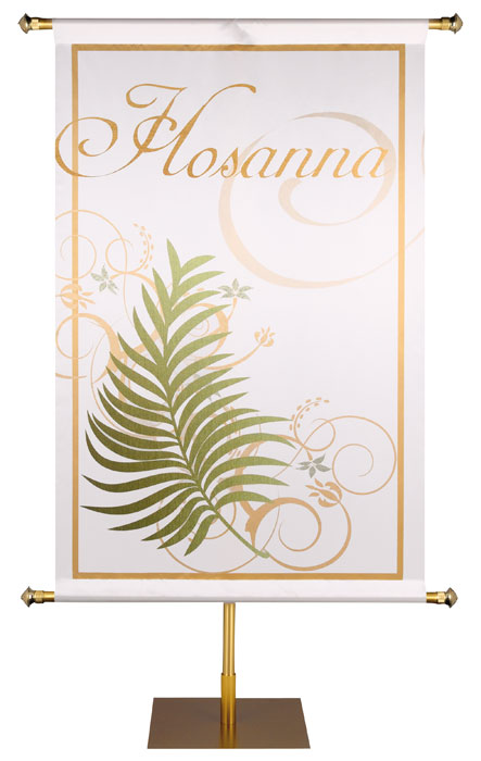 Easter Banners in the Look of Sparkling Foil