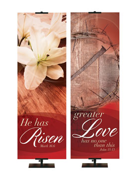 NEW! Passion of Christ Easter Banner Collection