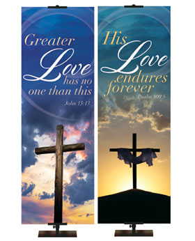 Easter Season Banners Rugged Cross Collection