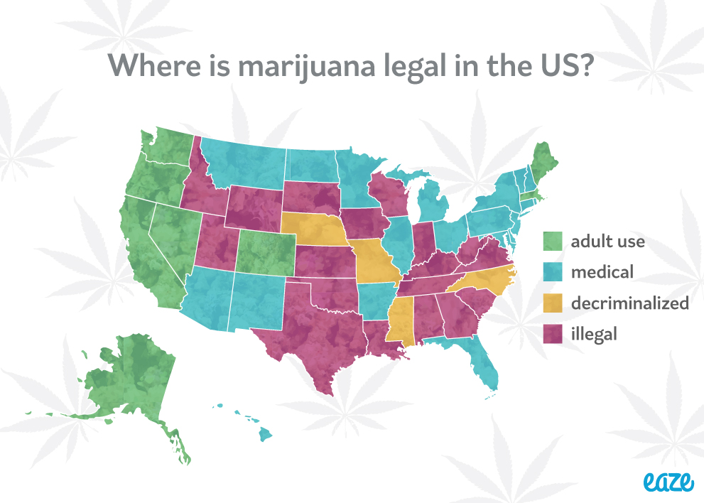 Map Archives - Eaze Blog | Marijuana Education, News, and Culture