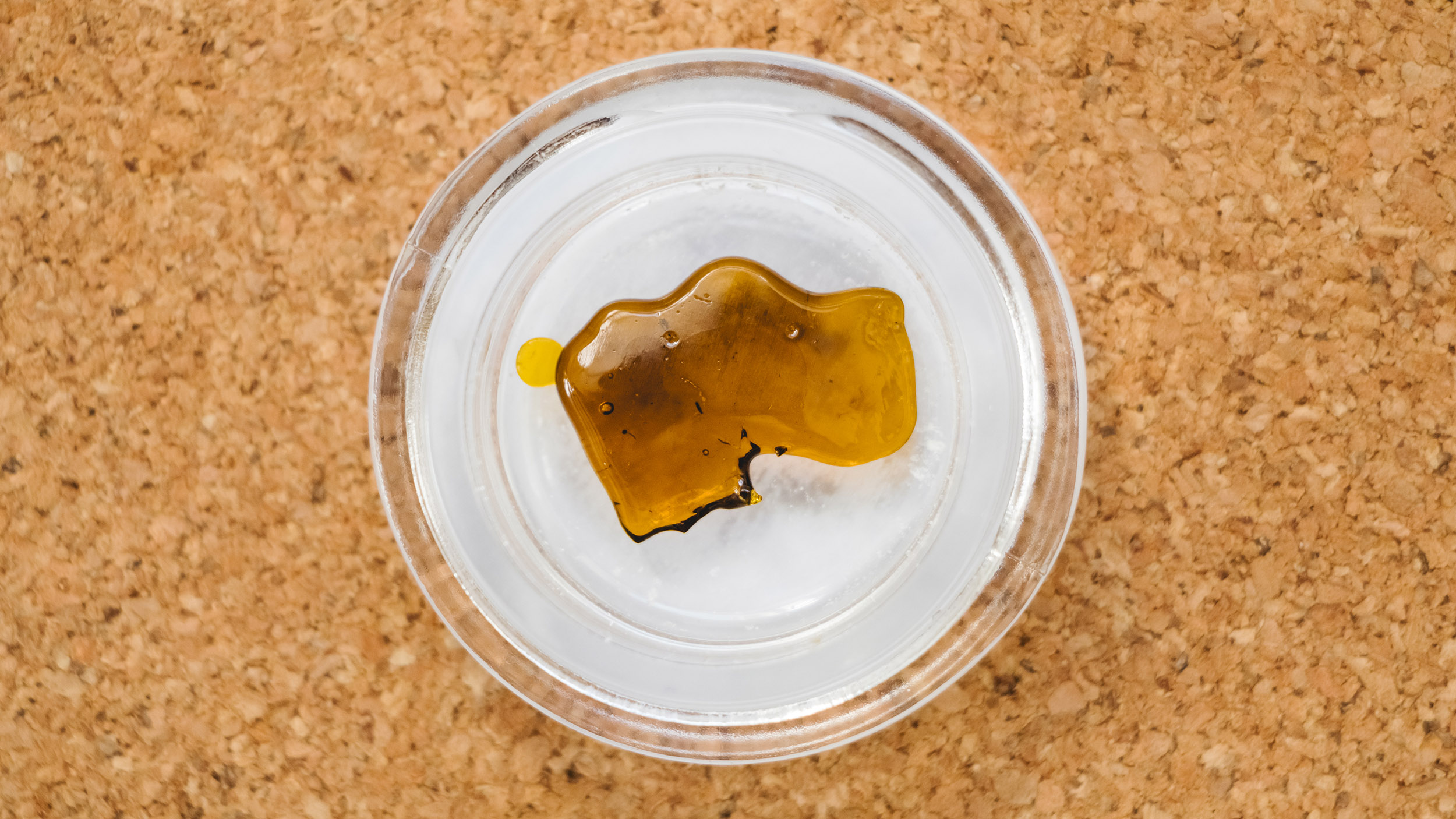 close up of shatter concentrate