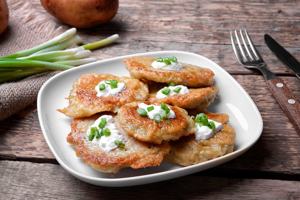 Image of a plate of latkes