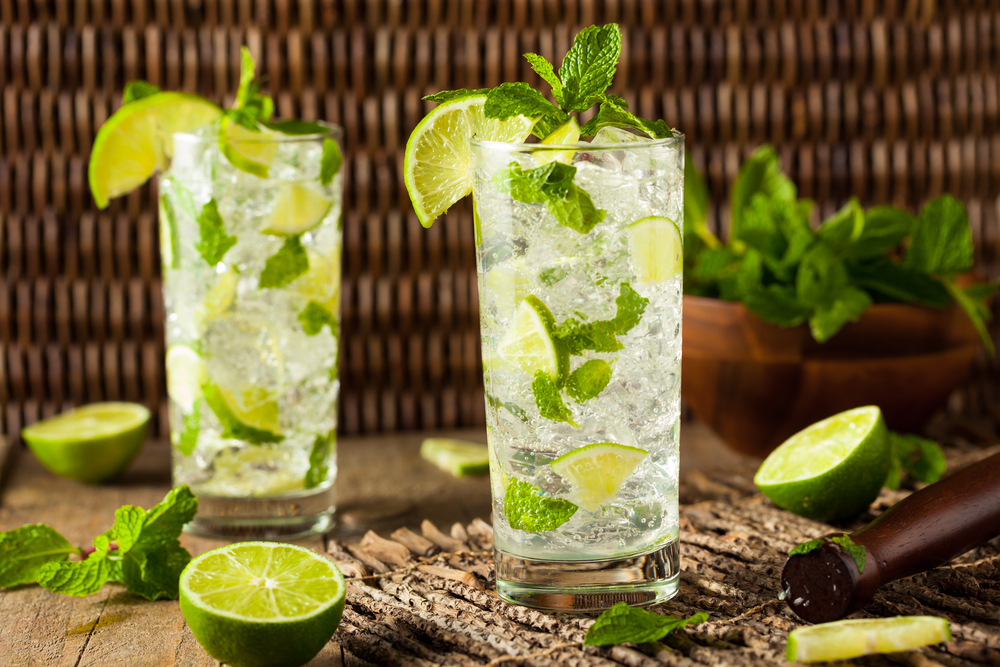 Image of mint mojitos