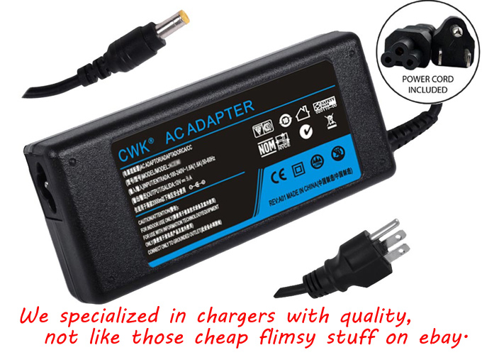 Monitor Power Supply : Ac adapter for hp led lcd monitor