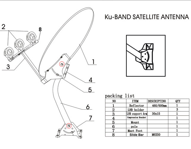 24 u0026quot  satellite tv antenna anik