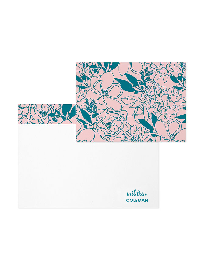 Budding Romance - Note Cards
