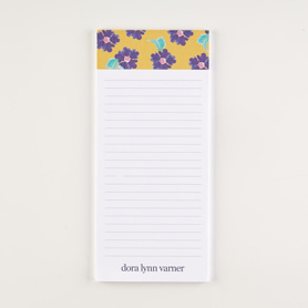 Watercolor Violets Notepad