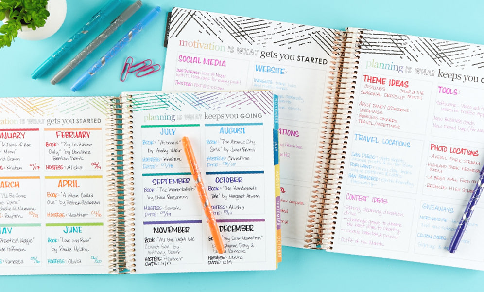 Plan in the Deluxe Monthly Planner