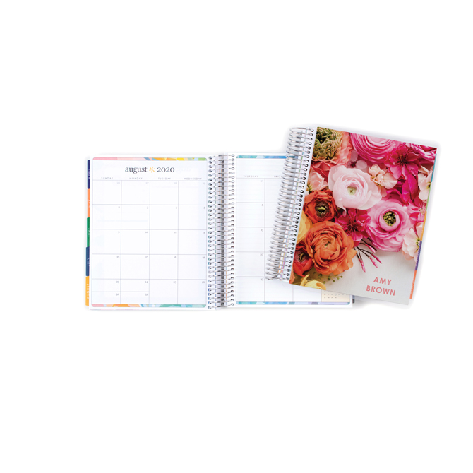 Green wedding shoes x erin condren ranunculus radiance personalized deluxe monthly planner 7