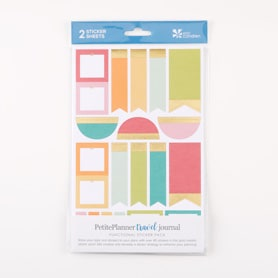 PetitePlanner Travel Journal Functional Sticker 2-Pack
