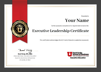 Executive Leadership Certificate
