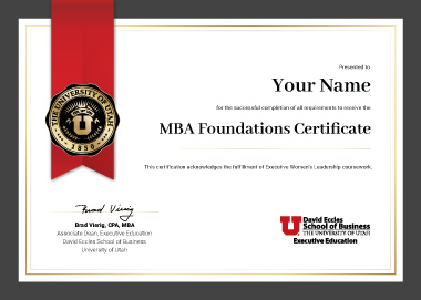 MBA Foundations Certificate