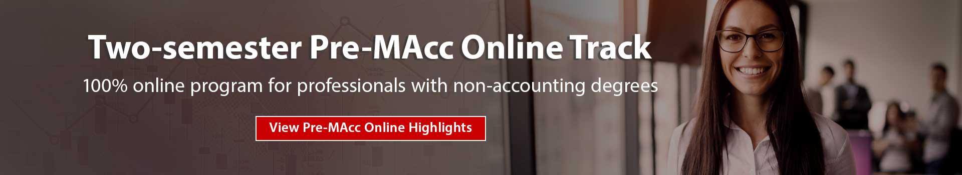Pre-MAcc Online Track