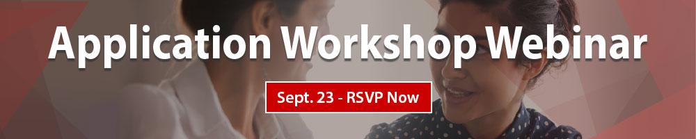 Application Workshop Webinar