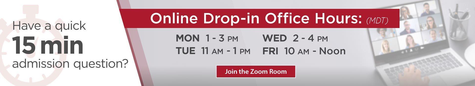 Online Drop-In Office Hours