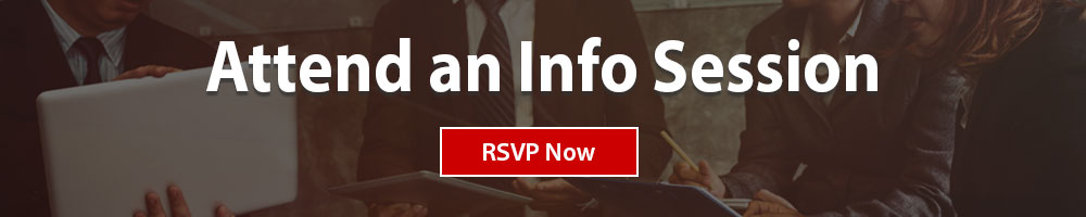 Join us for and Info Session July 18 - RSVP today