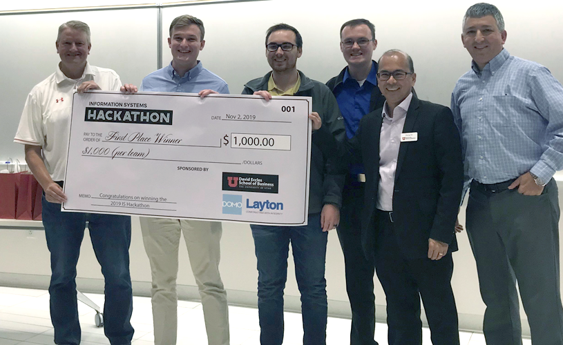 Eccles students compete in the Information Systems Hackathon