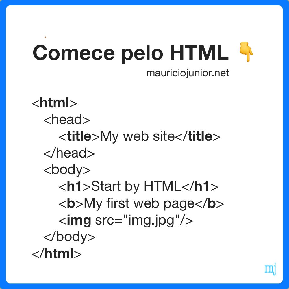 Comece pelo HTML