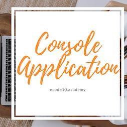 Curso de Console Application