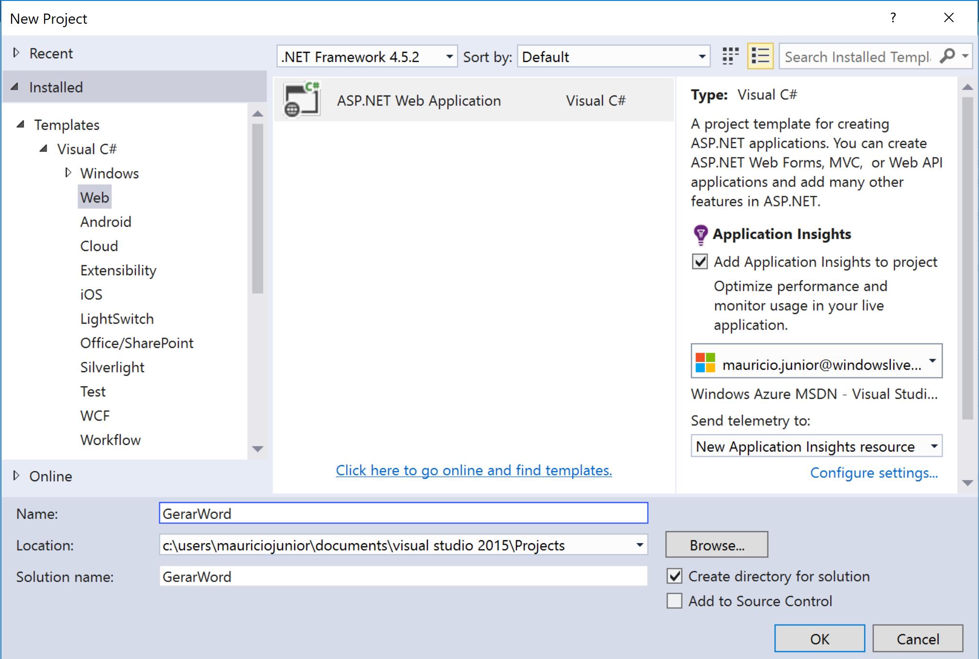 Gerar arquivo Word usando C# para Web