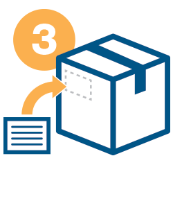 RMA - Step 3: add label to return box
