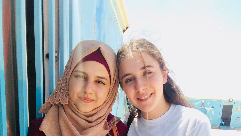 With Sophie Hurst during PT mission to Zaatari Camp