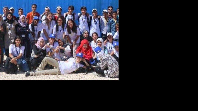 With PT Team in Zaatari